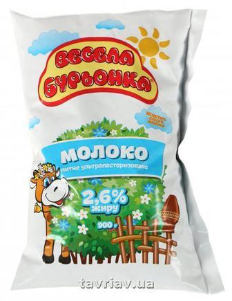 Молоко Весела Бурьонка 2,6% 900г