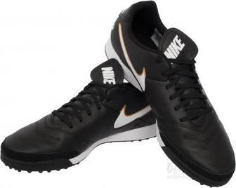 Бутси Nike TIEMPO GENIO II LEATHER 819216-010 р. 12,5 чорний