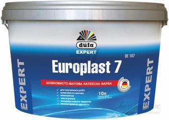 Фарба інтер'єрна шовковистоматова Europlast 7 DE 107 об'єми: 2,5/ 5/ 10 л