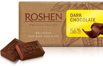 Шоколад чорний 56%, Рошен, 90 г