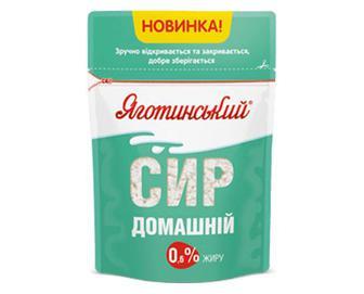 Сир «Яготинський» домашній, 0,6% жиру, 300г