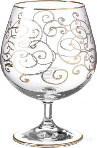 Набір бокалів для коньяку Florence 400 мл 6 шт. золото Combi