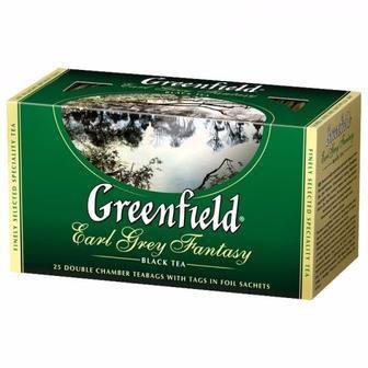 """Скидка 25% ▷ Чай чорний та зелений,""""Greenfield"""", 25*2г"""