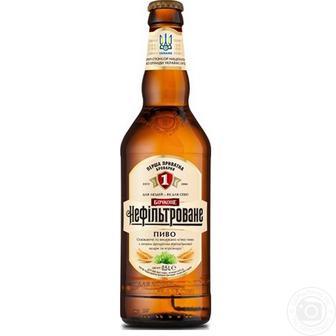 Пиво Бочкове Нефільтроване ППБ 0,5л
