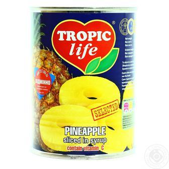 Ананас кільцями Tropic Life Долина Бажань 580 мл