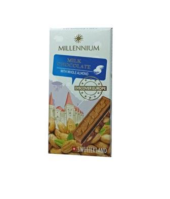 Шоколад MillenniumDiscoverEurope молоч. з цілим мигдалем 100г