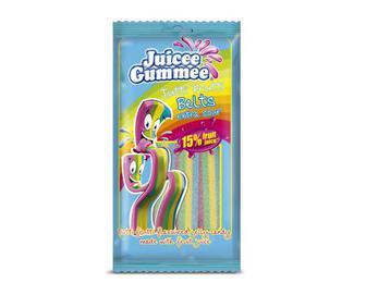 Цукерки жувальні Juicee Gummee «Ремінці тутті-фрутті» 85 г