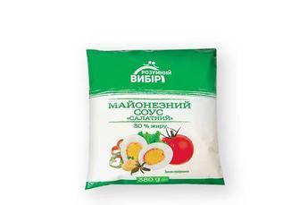 Майонезний соус Салатний 30% Розумний вибір 380 г
