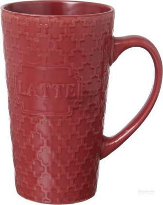 Чашка для лате Sweet latte 510 мл червона