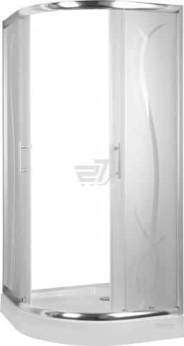 Душова кабіна TIAN MEI R-522 PT 04 900x900x1940 профіль хром, скло з малюнком
