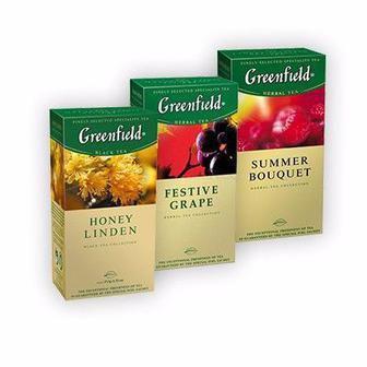 Чай травяной, зеленый, черный Гринфилд 25 пак