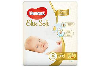 Підгузки Huggies Elite Soft Mega Pack 2 (4-6 кг) 88 шт./уп