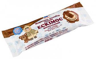 Морозиво Рудь Ескімос біле/шоколадне 80г