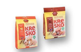 Фігурки  хрусткі зі смаком банан або шоколад Kresko  АВК 170 г