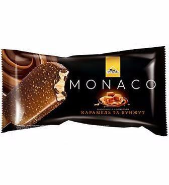 Морозиво Три Ведмеді Монако карамель-кунжут/трюфель-апельсин 80г