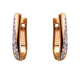 Золоті сережки з фіанітом (8с-158/34)