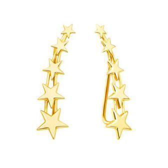 Золотые серьги-каффы «Звезды»