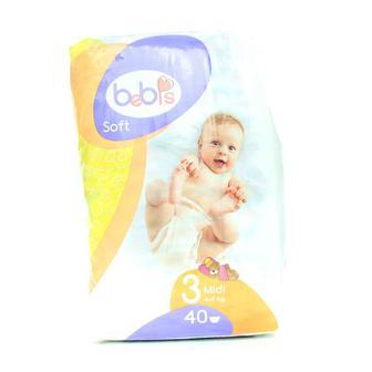 Подгузники детские торговой марки Bebis Soft 34/36/40шт