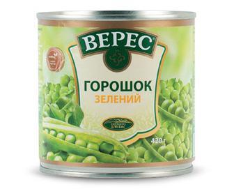 Горошок зелений «Верес» з мозкових сортів, 420г