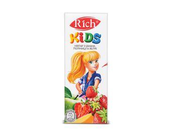 Нектар Rich Kids з банана, полуниці та яблук. 0,2 л
