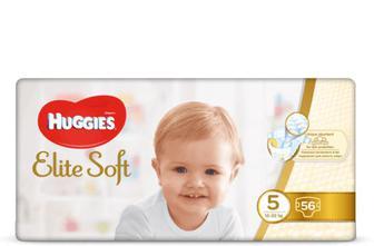 Підгузки Huggies Elite Soft Mega Pack 5 (12-22 кг) 56 шт./уп.