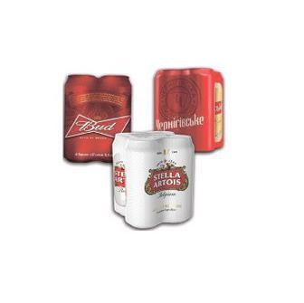 Пиво Бад, Чернигівське, Стелла Артуа 4х0,5 л