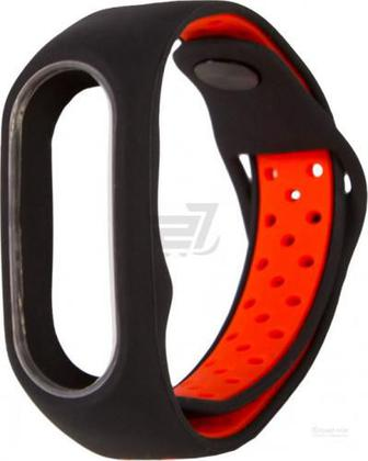 Ремінець для фітнес-браслета Xiaomi Mi Band 2 M1 black/red