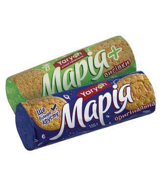 Печиво Марія Класична, Оригінальна, З висівками Ярич 155г