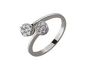 Золотое кольцо с бриллиантами Артикул 01-17499586