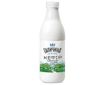Кефір «Галичина» 2,5%, пляшка, 870г