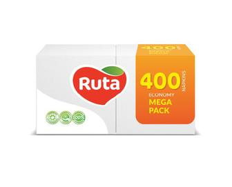 Серветки білі Ruta Mega Pack, 400 шт./уп.