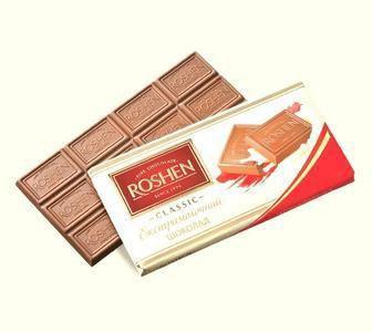 Шоколад Екстрачорний та молочний Рошен 90г