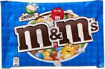 Драже M&M's з рисовими кульками у молочному шоколаді 36г, арахіс молочний шоколад, молочний шоколад 45г