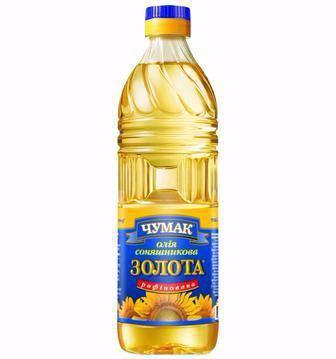 Олія соняшникова рафінована Золота Чумак 1 л