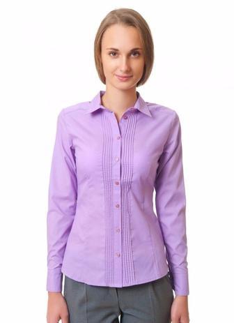 Блузка сиреневая с тонкими складочками