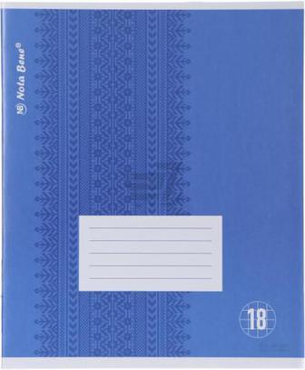 Зошит шкільний 18 аркушів клітинка Nota Bene
