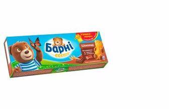 Бісквіт Барні, Шоколад молочний, банан, 150 г