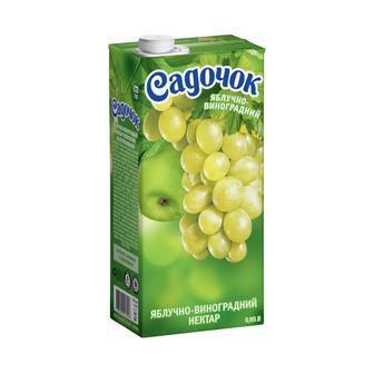 Нектар Яблоко, Яблоко-виноград, Мультивитамин, Яблочно-вишневый Садочок 0,95 л
