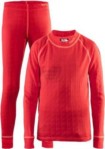 Комплект термобілизни Craft Nordic Wool Set J 1905356-452801 122/128 рожевий