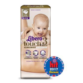 Подгузники LIBERO Touch р3 4-8 кг 52 шт
