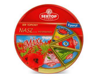 Сир плавлений Sertop асорті шинка-зелень, 27% жиру, 140г