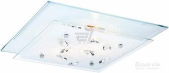 Світильник настінно-стельовий Globo Jasmina 40408-2 2x40 Вт E27 білий/хром