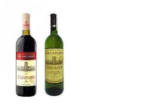 Вино красное/белое сухое Саперави/Совиньон, Масандра, 0,75л