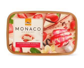 Морозиво «Три ведмеді» Monaco Dessert «Полуничний чізкейк» 500г