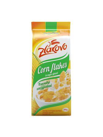 Пластівці кукурудзяні глазуровані Золоте Зерно 300г