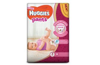 Підгузки-трусики для дівчаток, Huggies Pants 3 (6–11 кг) 58 шт./уп