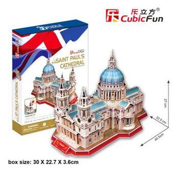 Трехмерная головоломка-конструктор CubicFun Собор Святого Павла (MC117h)