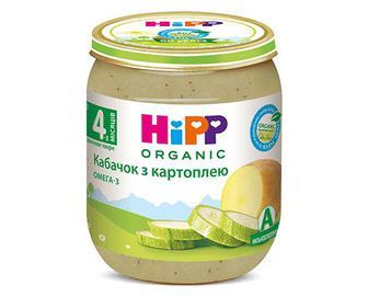 Пюре Hipp, кабачок з картоплею, 125г