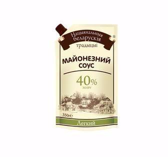 Майонезний соус Білоруські Традиції Легкий 40% 350 г