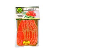 Семга слабосоленая филе-нарезка, КІТ, 250г